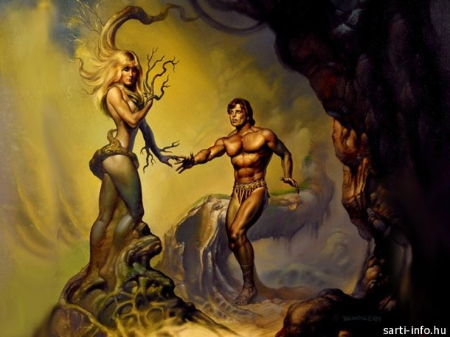 Apollo és Daphne, Boris Vallejo festménye
