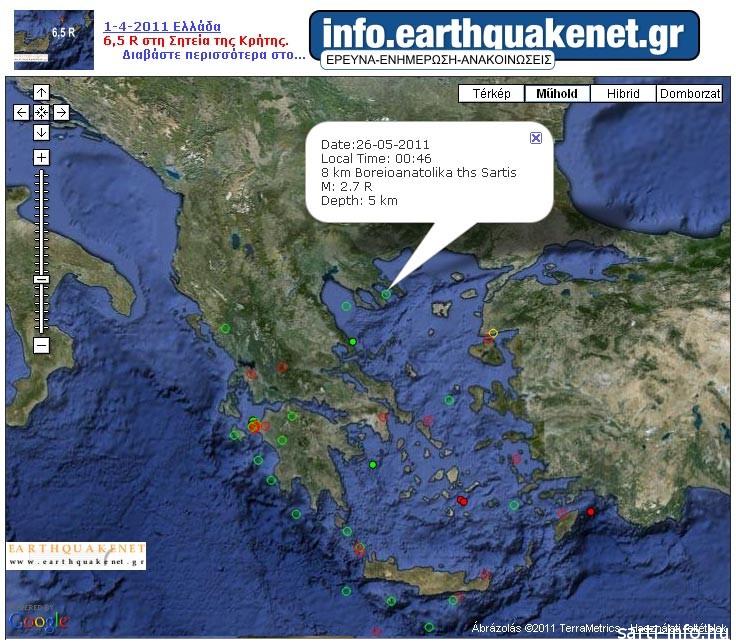 Földrengés Sartin, 2011.05.26.