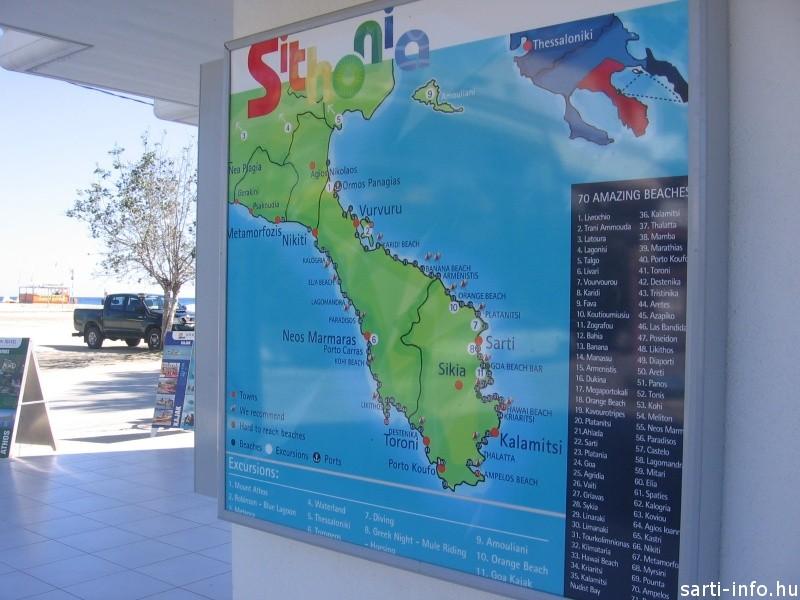 Sithonia térkép