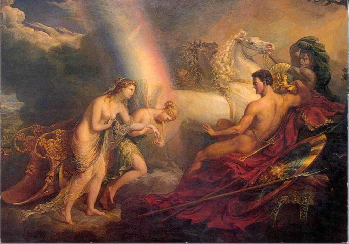 George Hayter: Aphrodité támogatta Íriszt és panaszkodik Árésznak