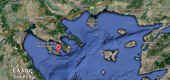 Földrengés Paliouriban