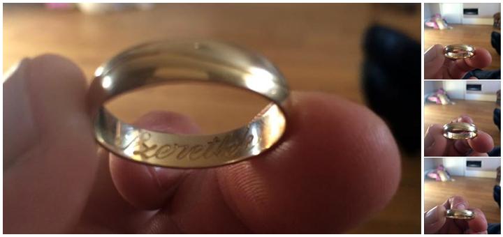 Szeretlek gyűrű