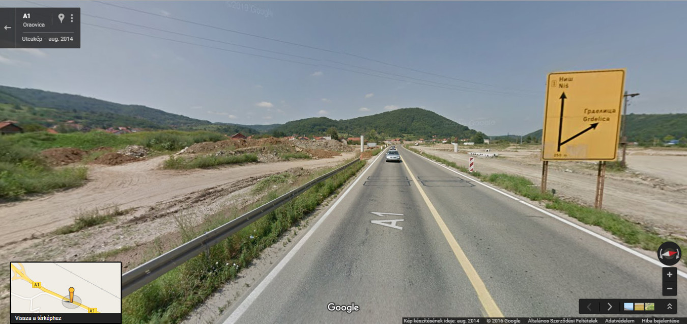 A Budapest - Sarti útvonal szakaszán épülő szerb autópálya