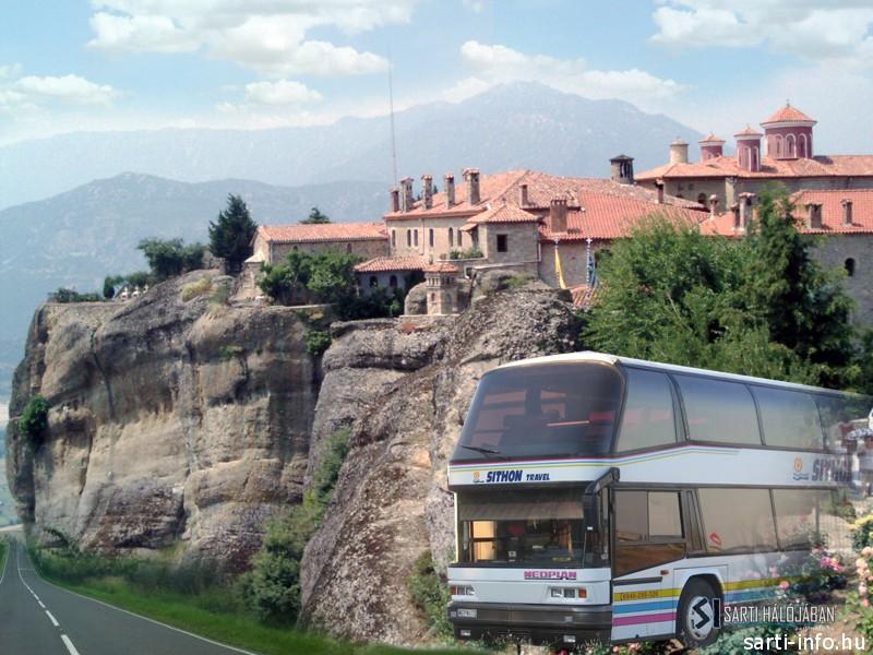 Meteorák busszal
