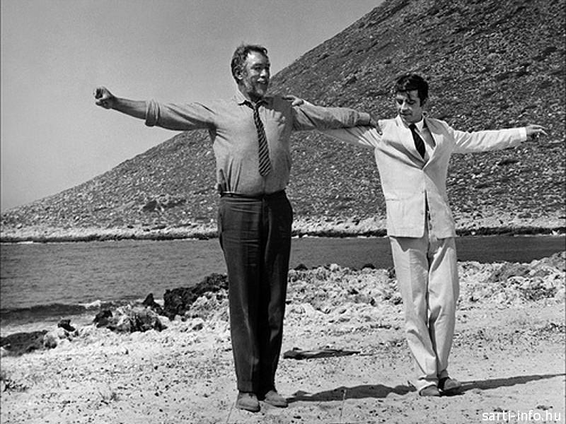 Zorba, a görög filmjelenet