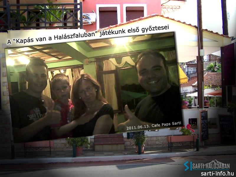 2011.10.13. Nyertesek, Cafe Paps Sarti