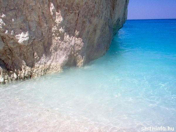 Kék víz a Navagio öbölben