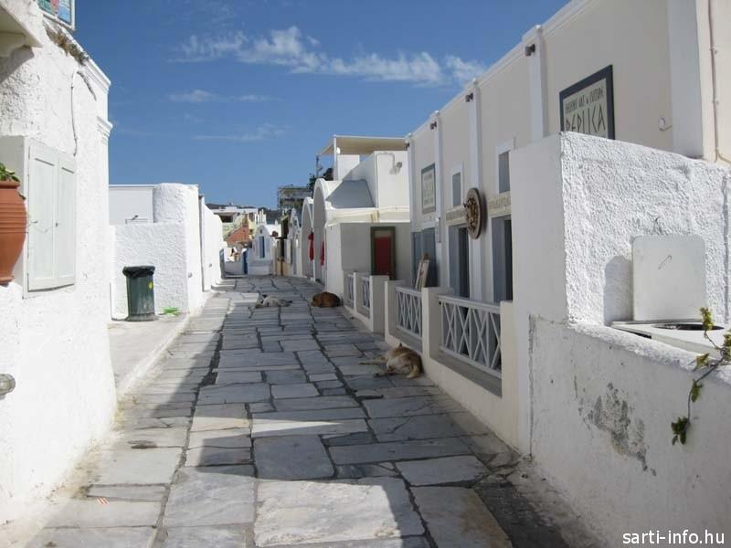 Utca részlet: Santorini