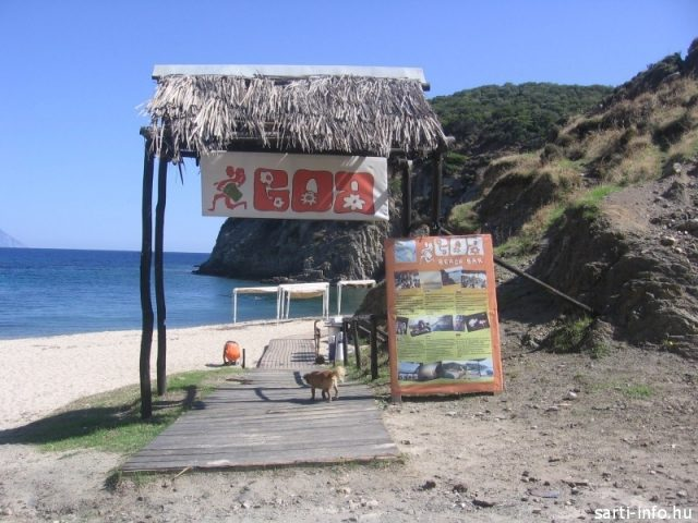 A Goa Beach Bar bejárata