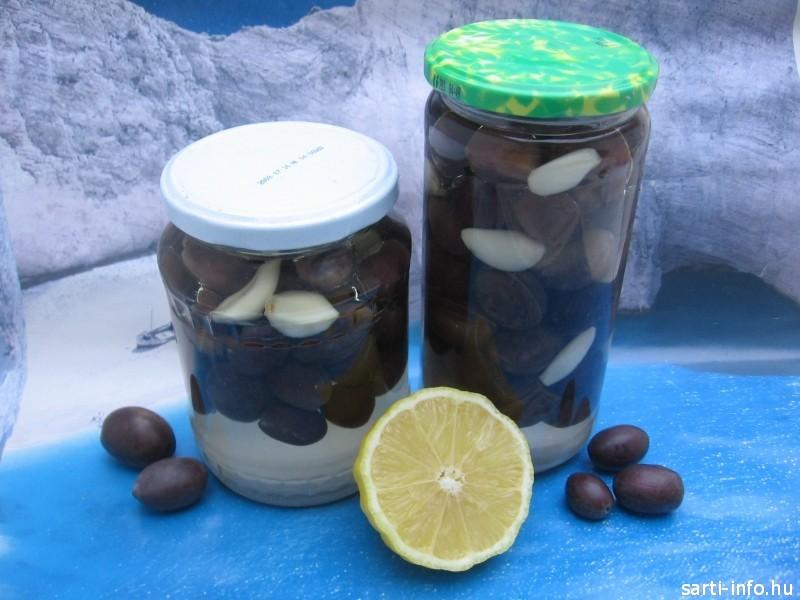 Fokhagymás görög olívabogyó