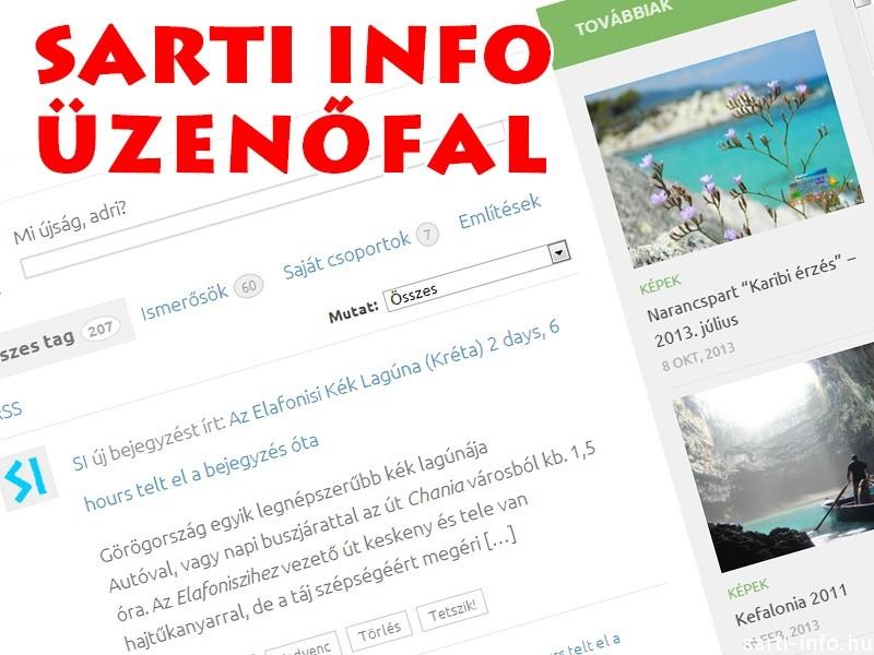 Sarti Info üzenőfal