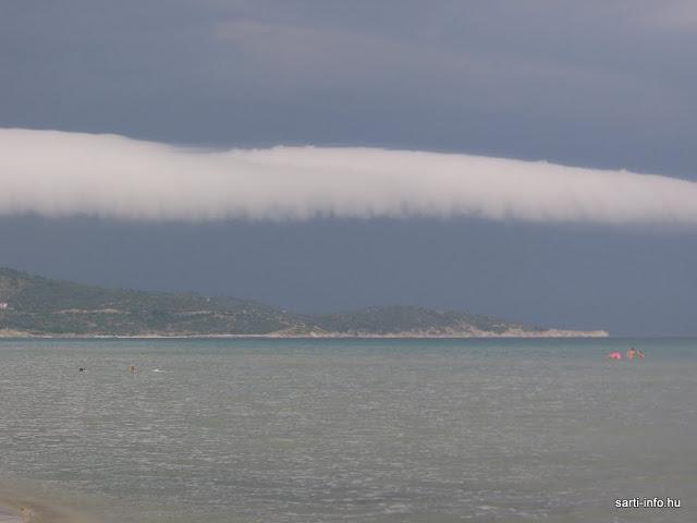 Homokvihar felhő