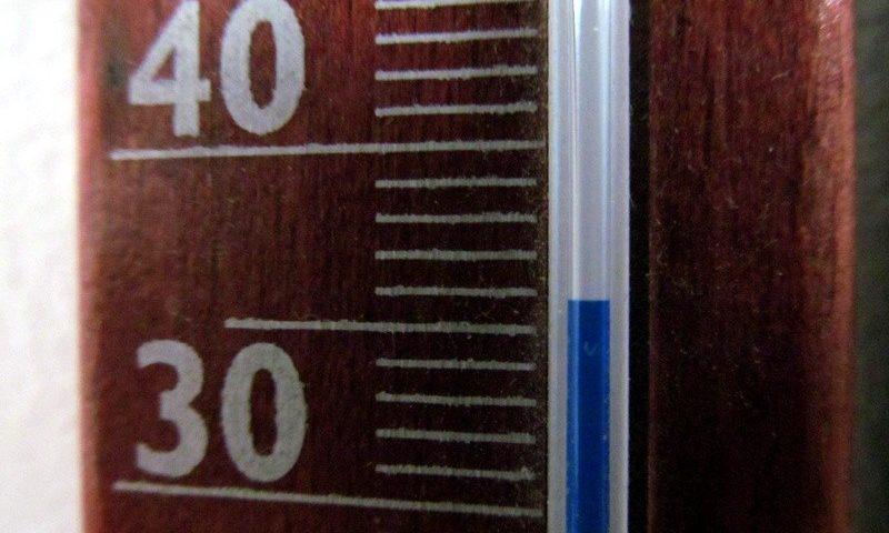 36 Celsios fok a hőmérőn