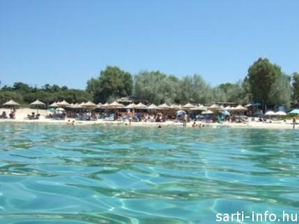 Ammouliani-sziget strandja