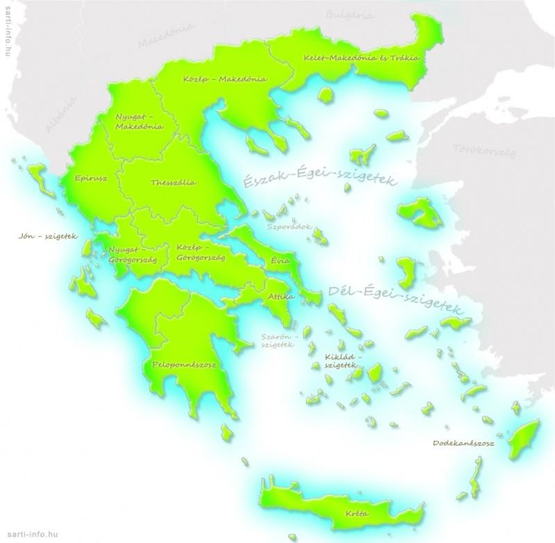 Görögország térkép