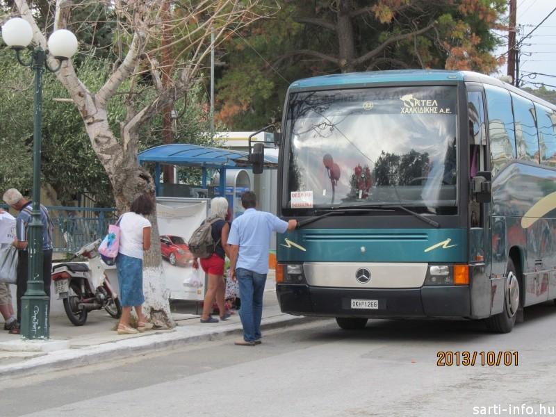 Távolsági buszjárat, Sarti
