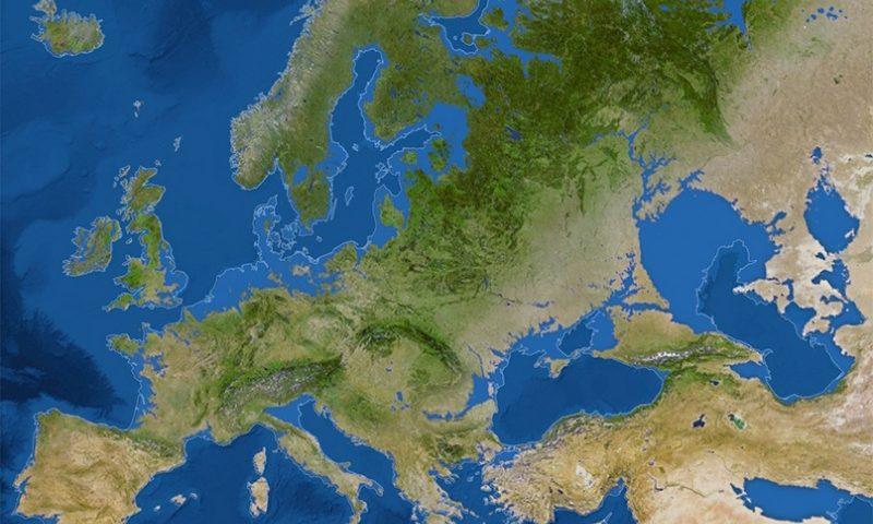 Európa új térképe. Fotó: nationalgeographic.com