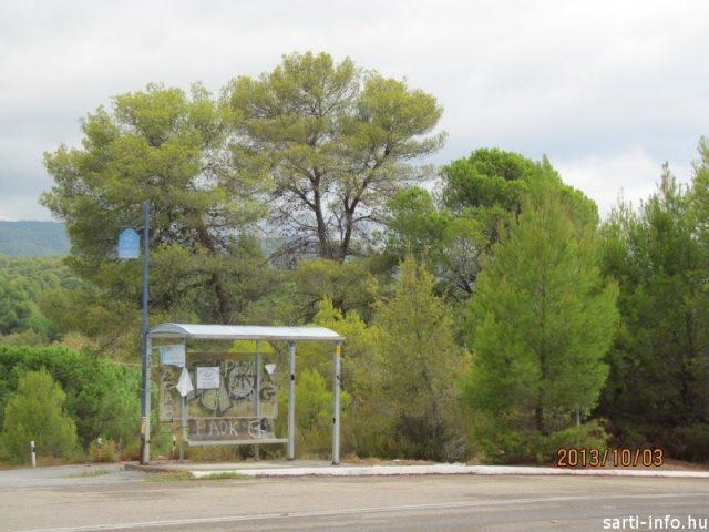 Buszmegálló a Narancspart közelében