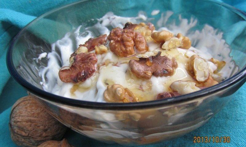 Mézes-diós görög joghurt