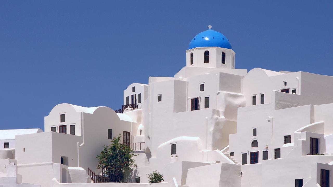 Épület a Kükládok szigeteken. Fotó: pixabay.com
