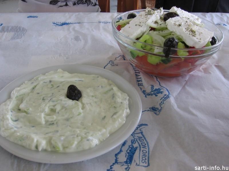 Tzatziki és Horiateki