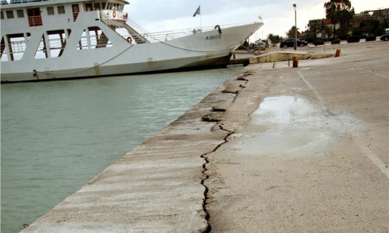 Repedt talaj Kefalonia kikötőjében. Fotó: news.in.gr