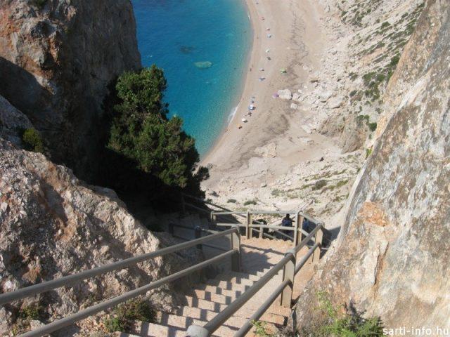 Lejárat a Myrtos Beachre