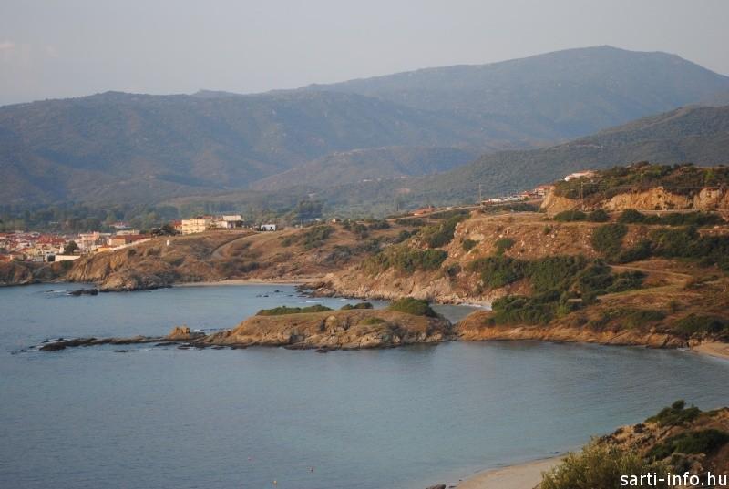 Sarti falu felé