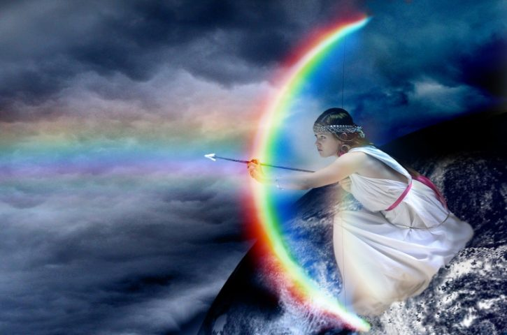 Görög istenek: Írisz, a szivárvány istennője. Szivárvány. Fotó: Chrissiecool