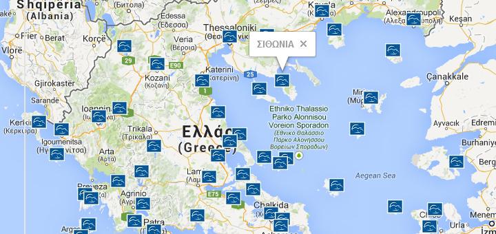 Görög hidroplán térkép hálózat