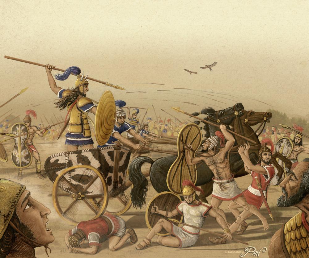 Battaglia epica scontro tra Achei e Troiani - Pan