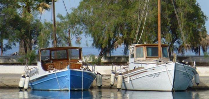 Hajókiállítás, Methana