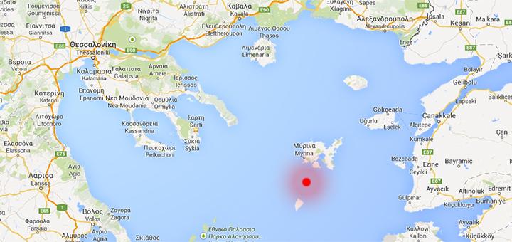 Földrengés az Égei-tengeren, 2014.05.24.