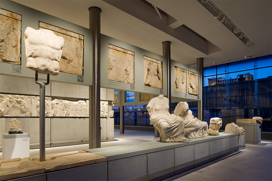 A Parthenon szobrai az Akropolisz Múzeumban