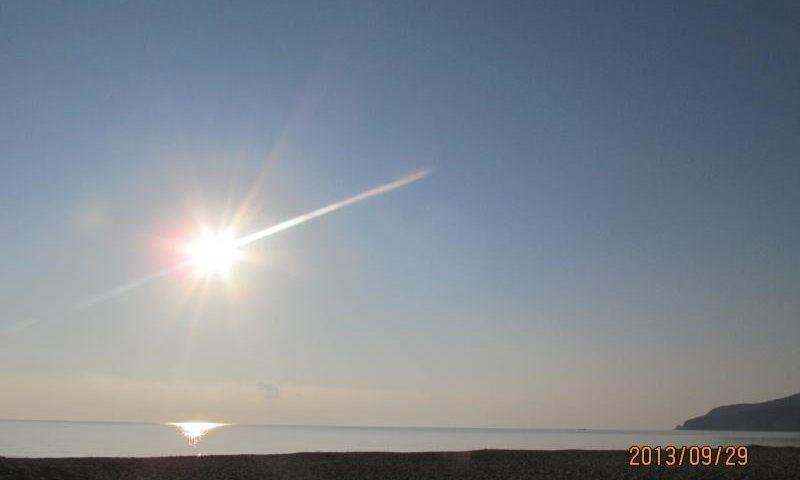 Napfény a tenger felett