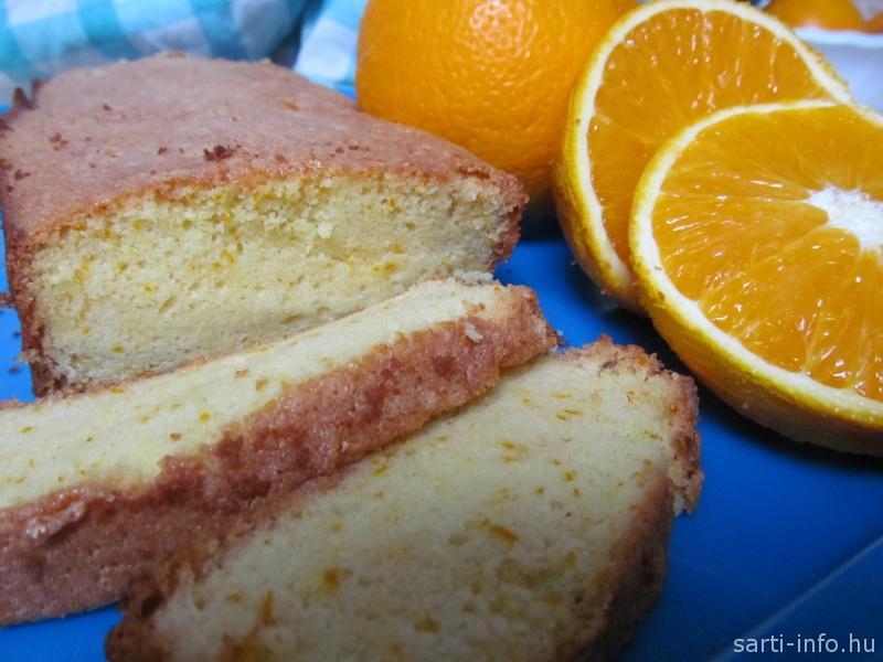 Gyümölcskenyér görög naranccsal
