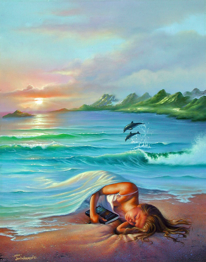 Jim Warren - Óceán álmok c. festménye