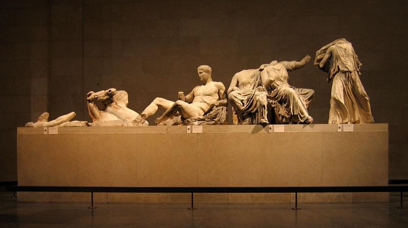 Az Elgin-márványok egy darabja: szoborcsoport a Parthenon keleti homlokzatáról