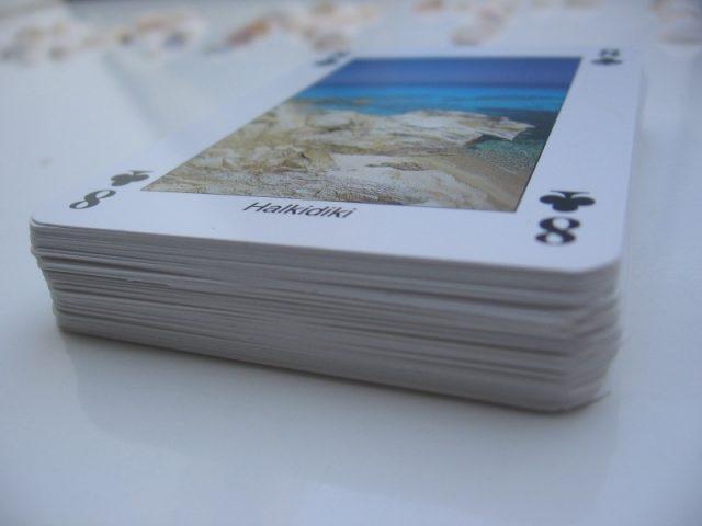 Halkidiki kártyapakli színes fényképekkel