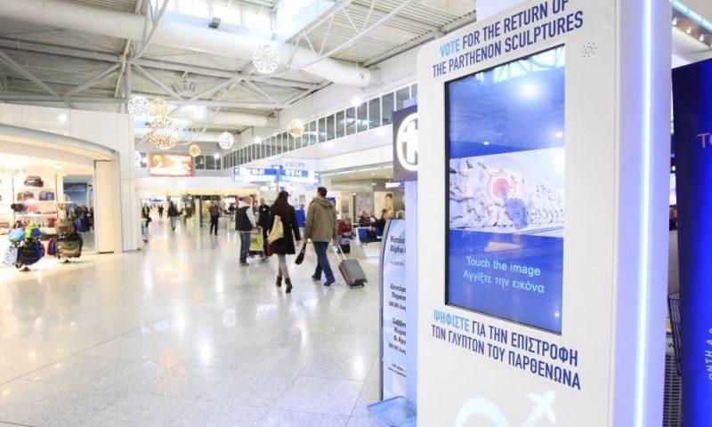 Parthenón-márványok szavazó terminál