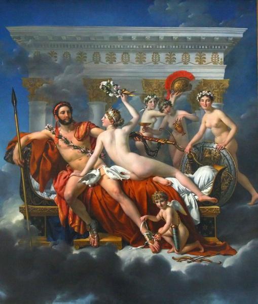 Vénusz (Afrodité) és a három grácia hatástalanította Marsot (Árészt) 1824