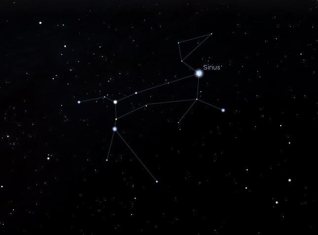 A Nagy Kutya csillagképe