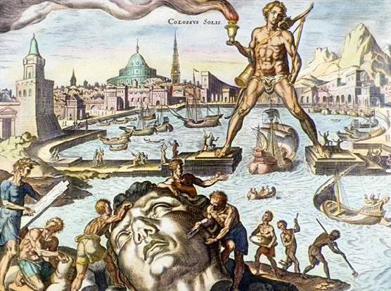 Festményen a Rodoszi Kolosszus