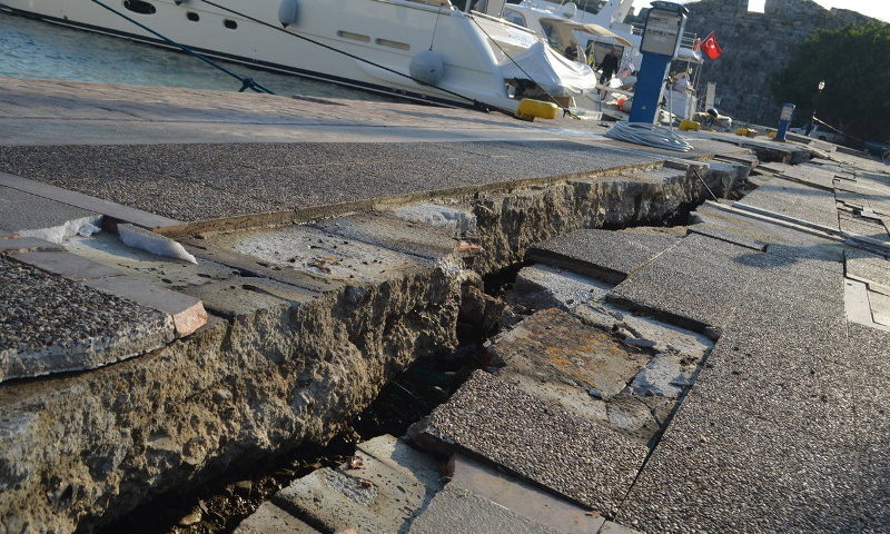 Kos-sziget, földrengés után