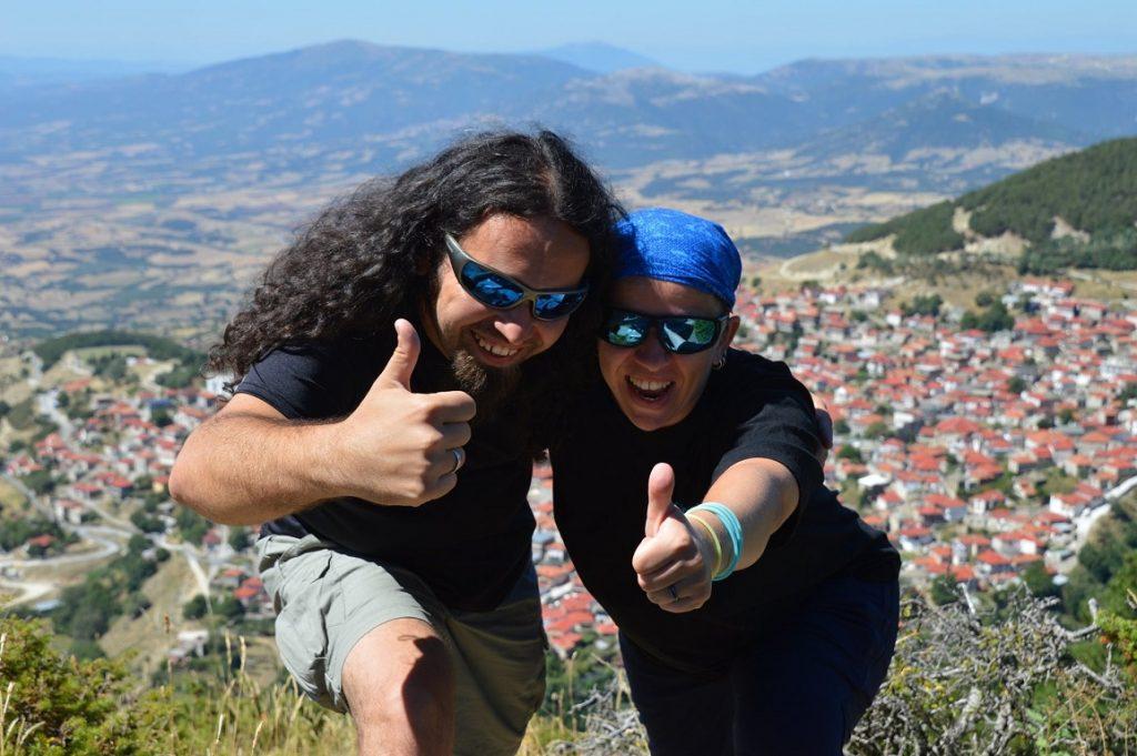 Livadi tetején, a Titaros hegy 1386 méter magas csúcsán