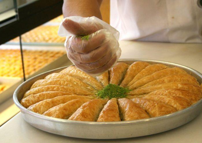 Baklava készítés
